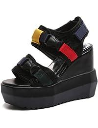 HBDLH Damen Schuhe/Fashion/innen Damen Schuhe Dick Tiefste Wild Sandalen Sommer Baotou Freizeit Muffin Schuhe...