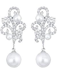 Modeschmuck ohrringe perlen  Suchergebnis auf Amazon.de für: ohrringe silber hängend - Kupfer ...