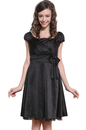 SW9075 Robe ¨¦l¨¦gante de c¨¦r¨¦monie en satin pour la grossesse et l'allaitement Black