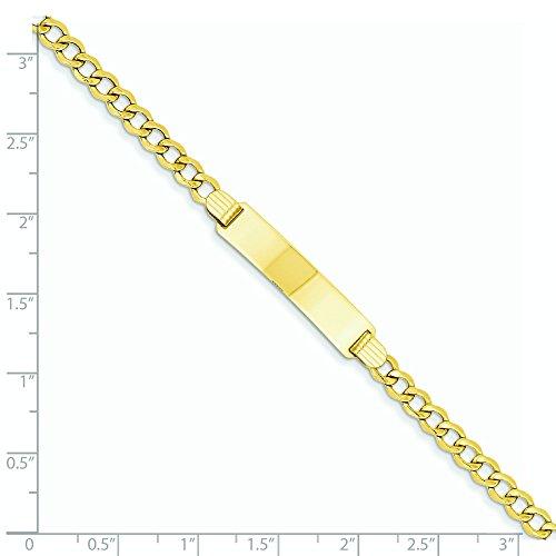 Or 14carats Chaîne à maillons Gourmette 4.75mm ID Bracelet-Longueur Options: 18-20