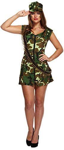 FEMMES ADULTES ARMÉE FEMME SOLDAT COSTUME SEXY MILITAIRE CAMOUFLAGE DÉGUISEMENT - Army Lady Outfit