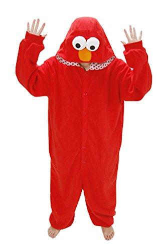 Unisex Schlummer Partei Tier Schlafanzug Kigurumi Cosplay Kostüm-Pyjamas (L, Elmo) (Monster Onesies Für Erwachsene)