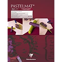 Clairefontaine 30 x 40 cm PastelMat Pastel Card Pad No3, 360 g, 12 Sheets, Assorted Colours