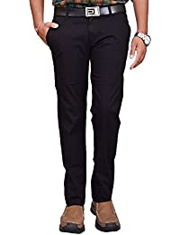British Terminal Black Skinny Cotton Lycra (Stretchable) Chinos Official Trouser