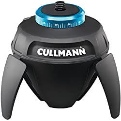 Cullmann SMART pano360 noir Tête panoramique électrique attache trépied 1/4 pouces Housse Télécommande IR Bluetooth® pour selfie support Smartphone Appareil photo iPhone DSLR Action GoPro CSC