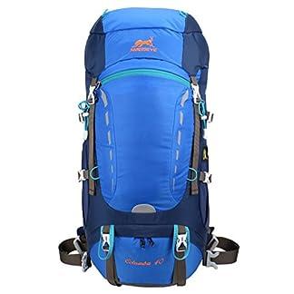 Eshow 40L Mochilas de Montaña Acampada al Aire Libre Impermeable Macutos de Viaje Senderismo Trekking con Cubierta de Lluvia