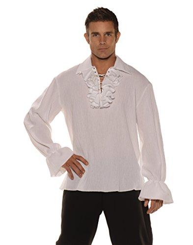 Underwraps White Gauze Pirate Shirt One (Shirt Pirate White)