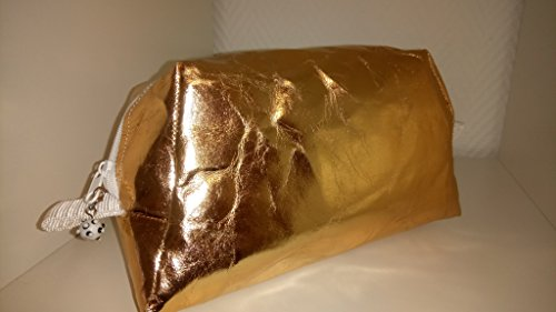 Schmink-/Kosmetik-Tasche Mäppchen - Rosegold Texipap Reissfest/Wasserdicht Neu (Wasserdichte Kosmetik-etui)