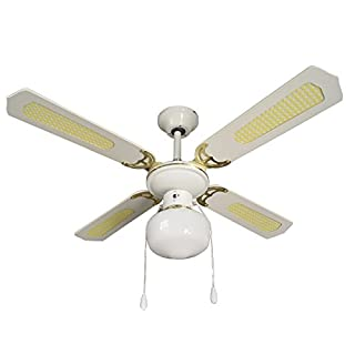 Armour & Danforth tmx3641Ceiling Fan with 4Blades + Light, Diameter 107cm