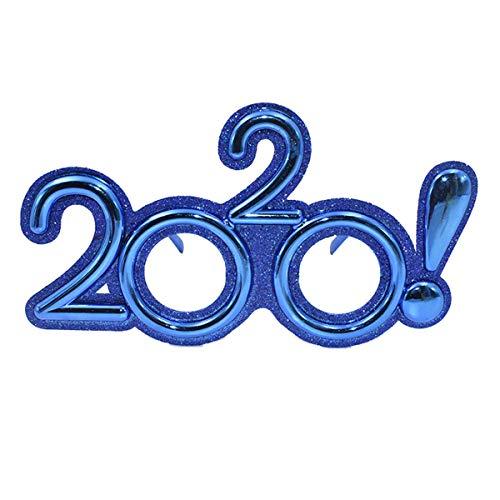Amosfun 2020 Glasses Party Photo Brille Lustige Brillen für Silvester Party Brille Frohes Neues Jahr Party Dekorativ