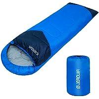 JEAOUIA Sacs de couchage pour le camping - Léger - Compact - Imperméable - Sac de couchage pour adultes, 3 saisons par temps chaud et frais, compact pour la randonnée, les voyages, l'intérieur et l'extérieur
