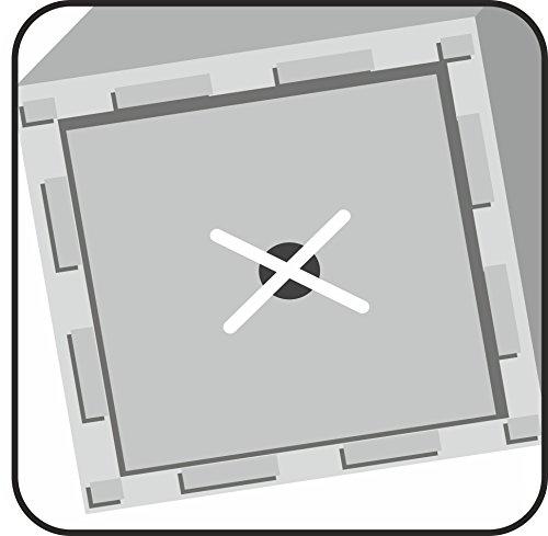 Scheurich C-Cube High, Hochgefäß aus Kunststoff, Stony Black, 26 cm lang, 26 cm breit, 70 cm hoch, 9 l Vol.