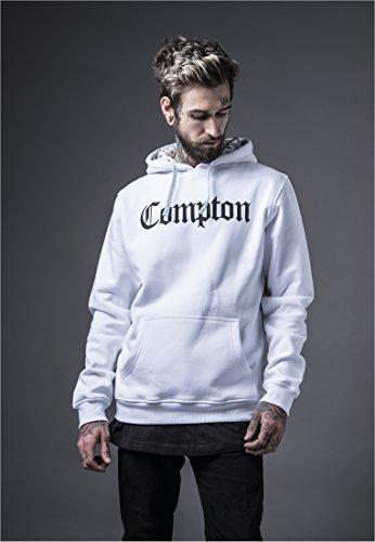 Mister Tee Compton Hooded Bandana Herren Hoodie Weiß