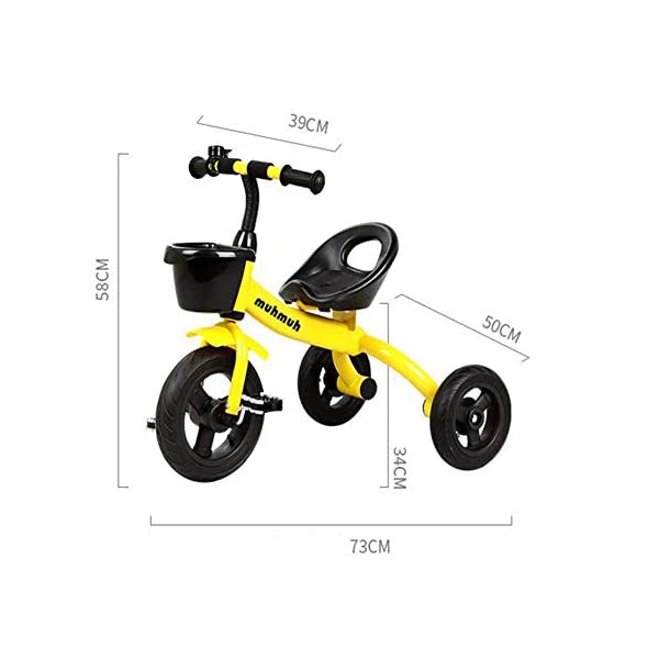 TX Baby Tricycle 3-6 Years Old Children Boys Girls 3 PU Wheel Toddler Pedal,Orange TX Security sponges, environmental protection, protection of baby riding safety. Natural rubber handle grip comfortable, non-slip texture. Pre-basket, carefully intimate care. 2