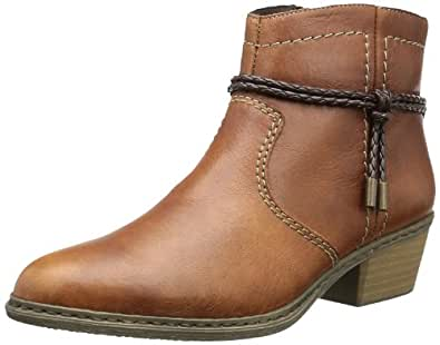 Rieker  75563, Bottes et bottines cowboy femme - Marron - Braun (marron/testadimoro 25), 39 EU