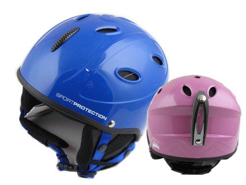 Skihelm für Kinder in drei Größen, Blau, XS ( Kopfumfang 53-54 cm )