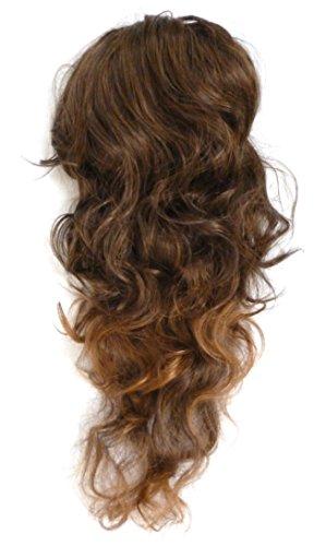 Pferdeschwanz Perücken (Jm-fashion-Supply Voluminöse Haarteil Pferdeschwanz Zopf Dutt (Perücke) Haarverdichtung gewellt (60cm mittelbraun)