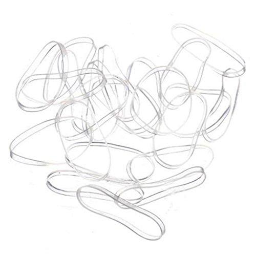 Preisvergleich Produktbild MAXGOODS Einweg Transparent Elastische Bänder Haar Gummibänder,  1000 Stk