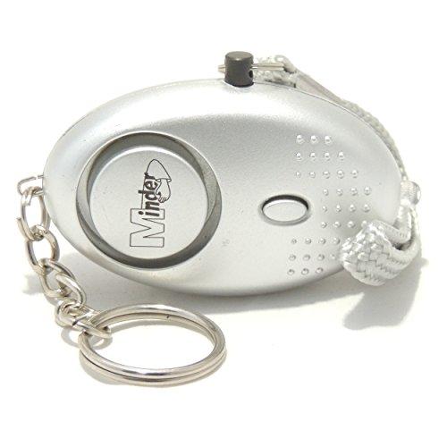EPOSGEAR Panikalarm Schlüsselanhänger, Taschenlampe und Mini Alarm mit 140db Sirene