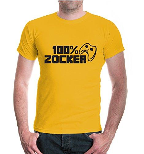 buXsbaum® T-Shirt 100 Prozent Zocker Sunflower-Black