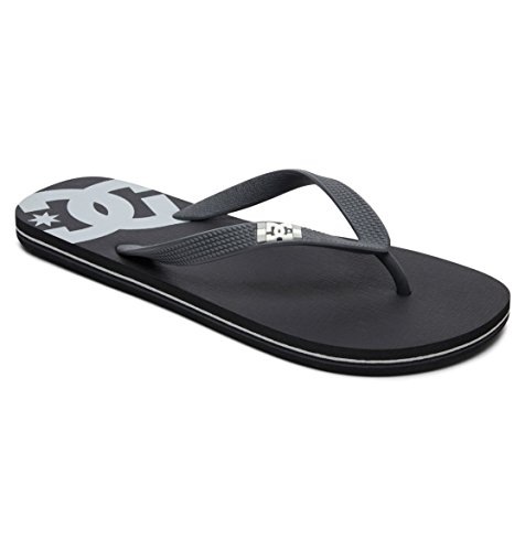 DC Shoes Herren Spray Zehentrenner, Schwarz (Black/Armor/Black 1Ab), 42 EU (Dc Sandalen Schwarz Shoes)