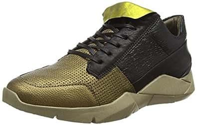 A.S.98 754102-0101-0001, Damen Sneakers, Gold (Oro+Oro+Nero+Nero+Nero+Nero), 37 EU