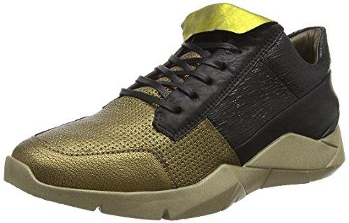 A.s.98 754102-0206-0001 Damen Sneakers Gold (oro+oro+nero+nero+nero+nero)