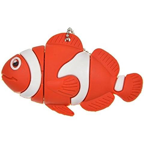 FEBNISCTE Cute Pescado Rojo 8GB USB3.0 Pendrive