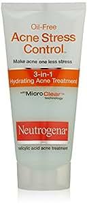 Neutrogena Traitement anti-acné hydratant Acne Stress Control 3-in-1 - Pour traiter l'acné avant qu'elle n'apparaisse - Hydrate et adoucit la peau - 40 ml