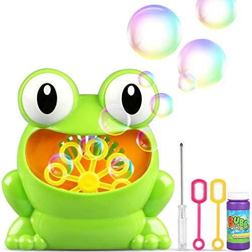 (TedGem Seifenblasenmaschine, Bubble Machine, Tragbares Kinder Bubble Machine Macher Mache über 500 Blasen Pro Minute Passend für Kids Birthday Party, Hochzeit, Weihnachten, Garten ect Aktivitäten)