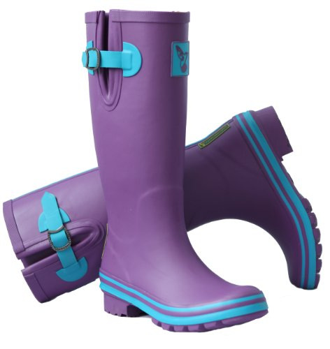 EVERCREATURES eGGPLANT, bottes en caoutchouc Violet