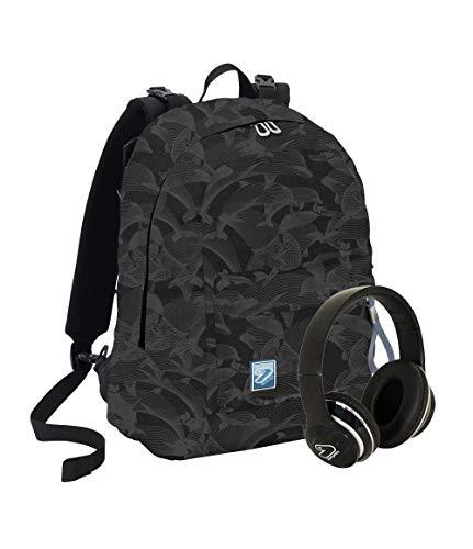 Zaino seven reversibile backpack social + cuffie nero art.201001992