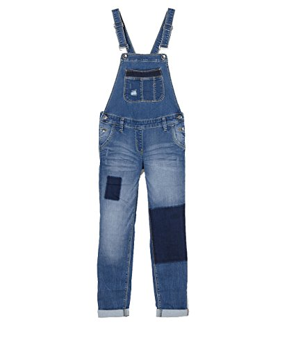 s.Oliver RED LABEL Junior Mädchen Suri: Denim-Latzhose blue denim stretch 134.REG