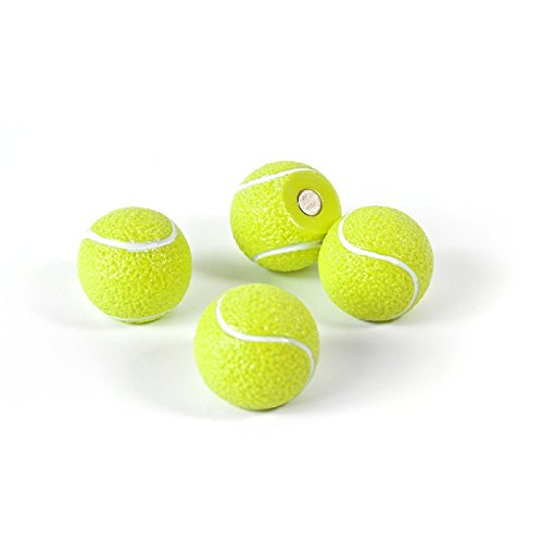 Trendform Gelbe Tennisball Magnete für Magnettafel Kühlschrank Whiteboard Pinnwand 4 Kühlschrankmagnete Kinder
