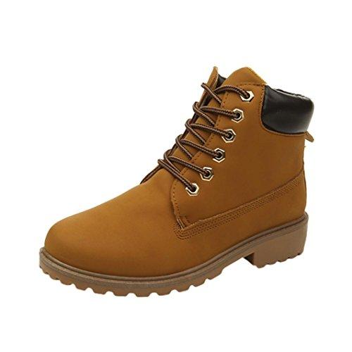 ESAILQ Schuhe - Claqué Mujer, Color Amarillo, Talla EU:35(Asian:36)