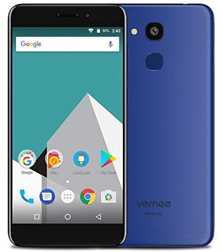 VERNEE M5 Smartphone ohne Vertrag Günstig 4G LTE, 5,2 Zoll Android Handy dual SIM, Metallstruktur & ultraflach (6,9 mm) - Octa-Core 4 GB + 64 GB, 8MP + 13MP-Kameras, 3300 mAh Akku GPS+GLONASS Blau