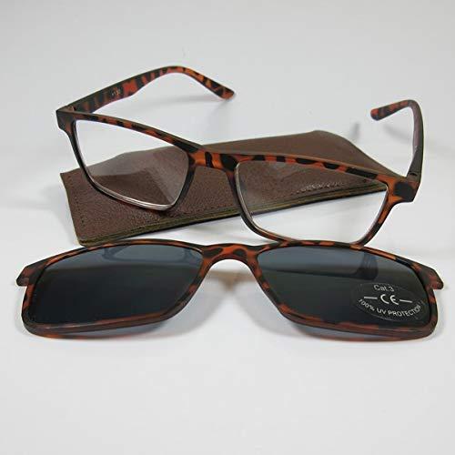 KOST Lesebrille/Sonnenbrille +1,5 mit getöntem Magnet Clip havanna SIE & IHN
