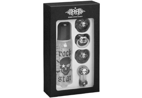 Rock Star Baby - tetinas biberones caja roca cráneo