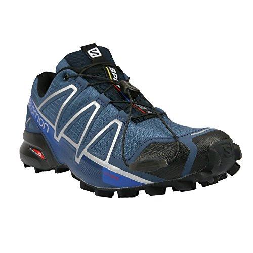 Salomon Speedcross 4, Scarpe da Trail Running Uomo, Blu (Slateblue/Black/Blue Yonder), 46 EU