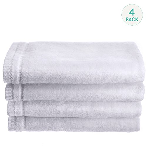 creative-scents-cotton-velour-fingertip-towel-4-piece-set-11-by-18-inch-white