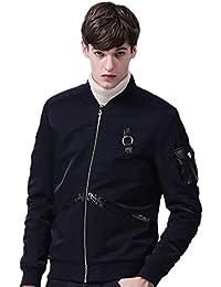 LvRao Hombre chaqueta corta bomber cazadora corto chaquetas militar vintage aviator jacket deportivas hombre