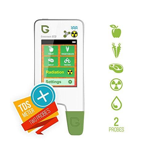 Greentest Eco5Allzweck-Lebensmittel-Nitrat-Tester (Fleisch, Obst und Gemüse) + Strahlungsdetektor + Wasser-Gesamtsalzgehalts-Messung -