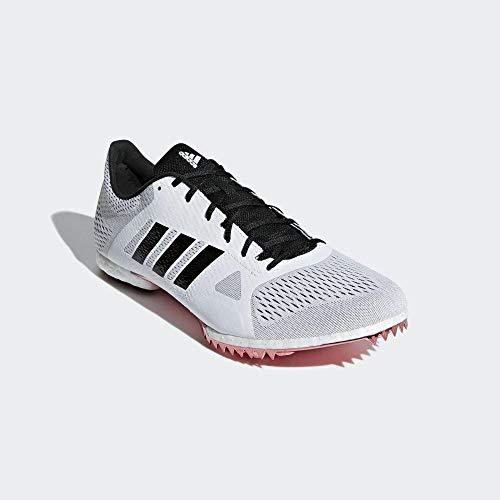 Adidas Adizero MD, Scarpe Chiodate da Atletica, Bianco (FtwrWhite/CoreBlack/ShockRed), 38 EU
