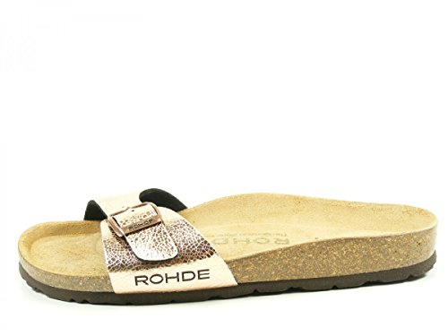 Rohde 5630, Sandales  Bout ouvert femme Rose