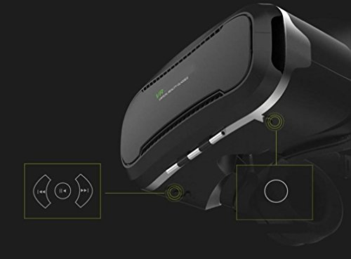 Nola Sang 3D Virtual Reality Gläser VR Headset Licht Version Virtual Reality Goggles Neueste Generation für Iphone Android Panorama-Videos Filme und 3D Immersive Games 4.5-6 Zoll Bildschirm