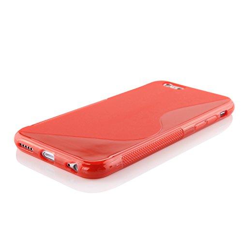 Original Urcover® iPhone 6 s Hülle aus TPU im S-Line Design [deutscher Fachhandel] Lila Rot