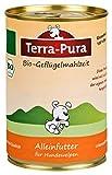 Terra Pura Bio Hundefutter Geflügelmahlzeit Welpen 400 g Glutenfrei, 12er Pack (12 x 400 g)
