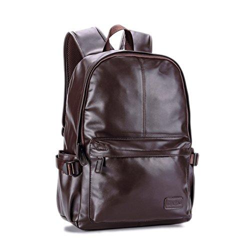 Herren casual Rucksack/[Rucksack]/Laptop-Tasche/Schultaschen/PULedertasche-B B