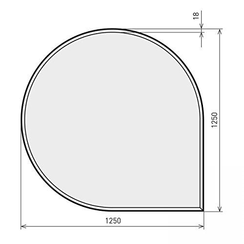 raik B40007 Kamin Glasplatte Tropfen 2 inkl. Facette