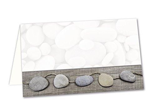 25 Stück kleine grau weiß - STEINE mit Herzen - natürliche Tischkarten Namens-Schilder Sitzkarten Platzkarten Namens-Kärtchen Tisch-Aufsteller Buffet-Beschriftung - MIT JEDEM STIFT beschreibbar!